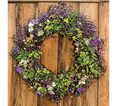 Wild Spring Floral & Berry Wreath, 24""