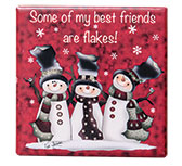 Best Friends Are Flakes Mini Tile