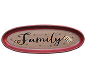 Blessed Family Oval Tray 15.5\