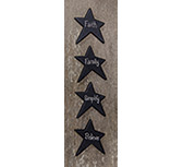 4/Set, Black Star Word Magnets