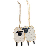 Sheep Ornaments, 4/Set