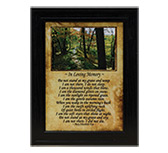 Framed In Loving Memory Print