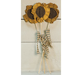Set of 3, Sunflower Picks, 13""