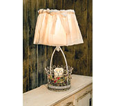 *Holland Basket Lamp w/shade