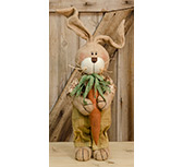 Burlap Overall Bunny