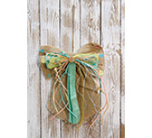 *Large Blue Burlap Bow Ornament