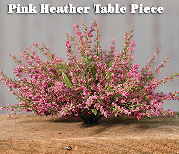 Pink Heather Table Piece