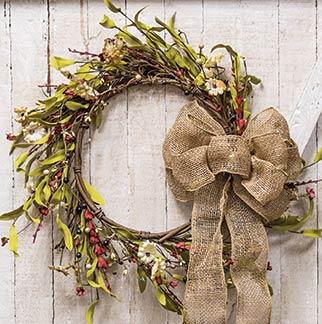 """20"""" Teastain Country Flower Wreath"""