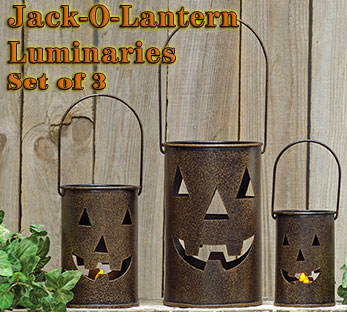 3/Set, Jack-O-Lantern Luminary