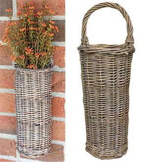 White Washed Willow Basket